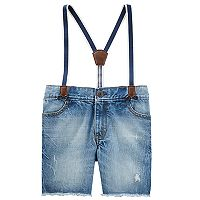 Toddler Boy OshKosh B'gosh® Suspender Sun Faded Shorts