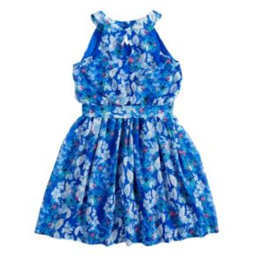 Girls 7-16 My Michelle Floral Pleated Dress