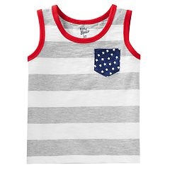 Toddler Boy OshKosh B'gosh® Slubbed Stars & Stripes Tank Top