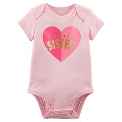 Baby Girl Carter's 'Little Sister' Heart Graphic Bodysuit