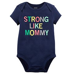 Baby Girl Carter's 'Strong Like Mommy' Glitter Graphic Bodysuit