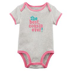 Baby Girl Carter's 'The Best Cousin Ever!' Embroidered Graphic Bodysuit