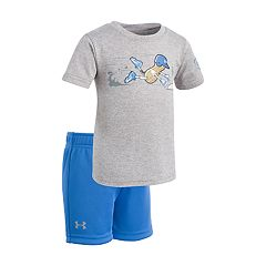 Baby Boy Under Armour Peanut Homebase Baseball Graphic Tee & Shorts Set