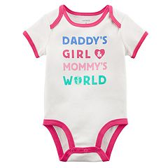 Baby Girl Carter's 'Daddy's Girl Mommy's World' Bodysuit