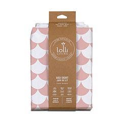 Lolli Living Pink Scallops Bed Skirt