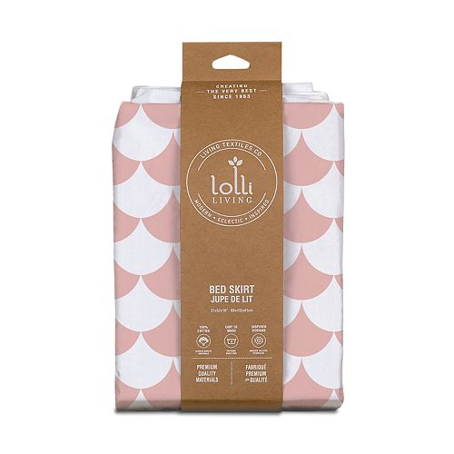 Lolli Living Pink Scallops Bed Skirt