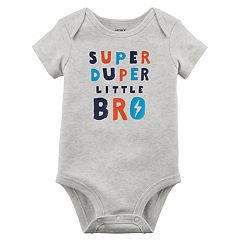 Baby Boy Carter's 'Super Duper Little Bro' Graphic Bodysuit