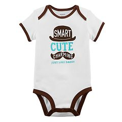 Baby Boy Carter's 'Smart Cute Charming' Graphic Bodysuit