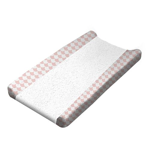 Lolli Living Pink Scallops Changing Pad Cover