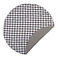 Lolli Living Black Scallops Round Play Mat