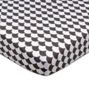 Lolli Living Kayden Black Scallops Fitted Crib Sheet