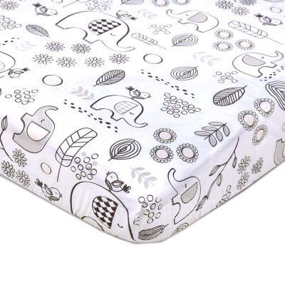 Lolli Living Kayden Elle Elephant Fitted Crib Sheet