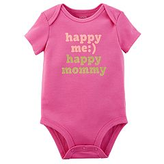Baby Girl Carter's 'Happy Me Happy Mommy' Slogan Bodysuit