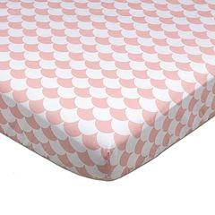 Lolli Living Kayden Pink Scallops Fitted Crib Sheet