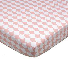 Lolli Living Kayden Pink Scallops Fitted Crib Sheet