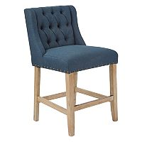Ave Six Kate Upholstered Wingback Counter Stool