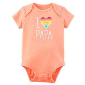 "Baby Girl Carter's ""I Love My Papa"" Graphic Bodysuit"