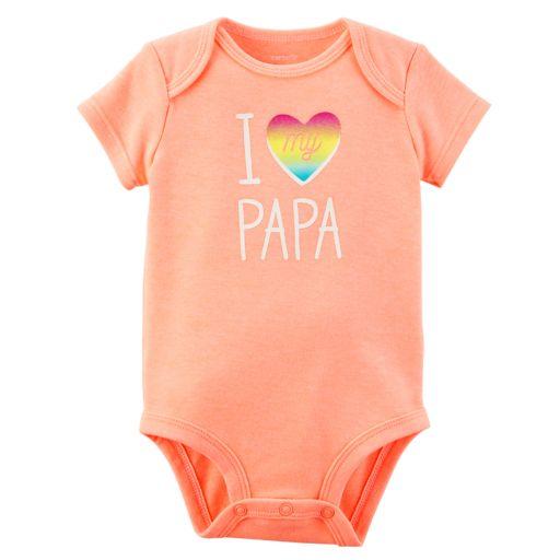 "Baby Girl Carter's ""I Love My Papa"" Graphic Bodysuit"