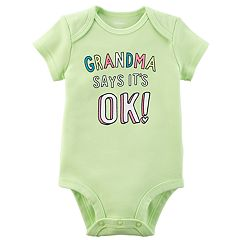 Baby Girl Carter's 'Grandma Says It's OK!' Graphic Bodysuit