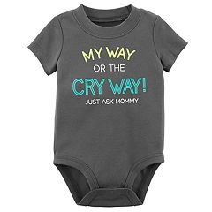 Baby Boy Carter's 'My Way Or The Cry Way!' Graphic Bodysuit