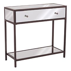 OSP Designs Marquis Mirrored Console Table