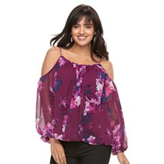 Women's Jennifer Lopez Cold-Shoulder Swing Top