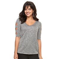 Women's Jennifer Lopez Embellished Cutout Tee