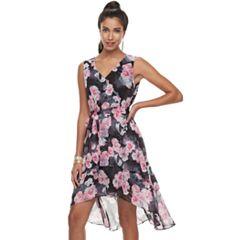 Women's Jennifer Lopez High-Low Ruffle Fit & Flare Dress