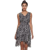 Women's Jennifer Lopez High-Low Ruffle Fit & Flare Dress