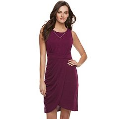 Women's Jennifer Lopez Pleated Tulip-Hem Dress