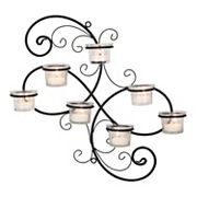 Stonebriar Collection 7-Light Tealight Candle Holder Wall Decor 8 pc Set