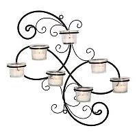 Stonebriar Collection 7-Light Tealight Candle Holder Wall Decor 8-piece Set