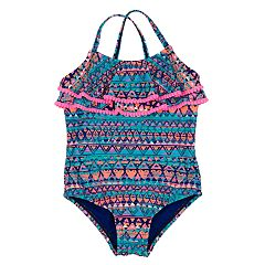 Toddler Girl Kiko & Max Aztec Print One-Piece Swimsuit