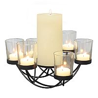 Stonebriar Collection 6-Light Centerpiece Tealight & Pillar Candle Holder