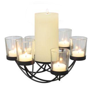 Stonebriar Collection 6-Light Centerpiece Tealight & Pillar Candle Holder