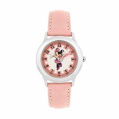 Disney's Minnie Mouse Kids' Leather Time Teacher Watch