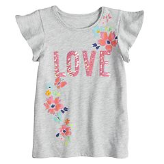 Girls 4-12 SONOMA Goods for Life™ Split Flutter Sleeve Graphic Tee