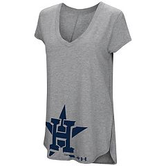Women's Under Armour Houston Astros Pride Hem Graphic Tee