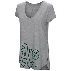 Women's Under Armour Oakland Athletics Pride Hem Graphic Tee