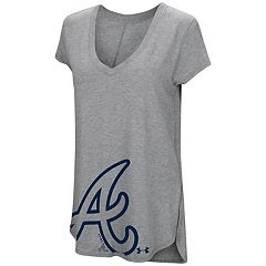 Women's Under Armour Atlanta Braves Pride Hem Graphic Tee