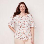 Plus Size LC Lauren Conrad Love, Lauren Bell Sleeve Tee