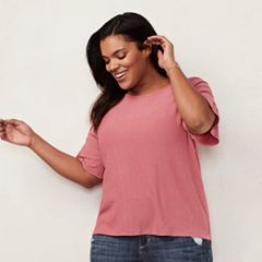 Plus Size LC Lauren Conrad Love, Lauren Bell Sleeve Tee