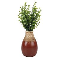 Stonebriar Collection Weathered Red Ceramic Vase