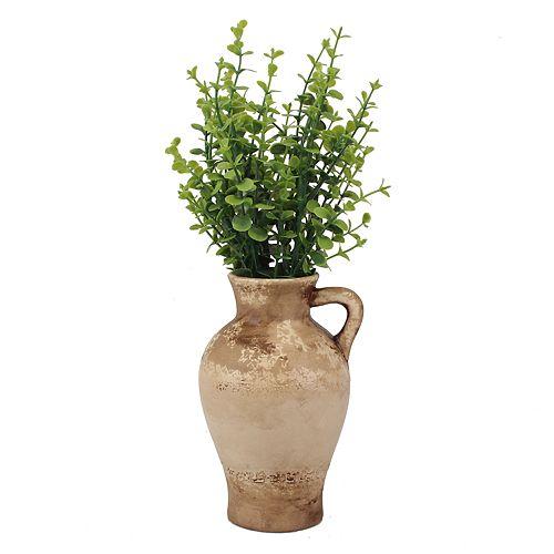 Stonebriar Collection Weathered Ceramic Vase
