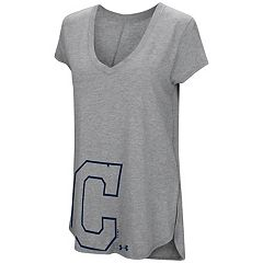 Women's Under Armour Cleveland Indians Pride Hem Graphic Tee