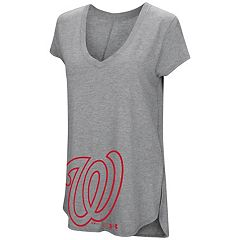 Women's Under Armour Washington Nationals Pride Hem Graphic Tee
