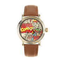 Marvel Comics Men's Leather Watch