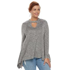 Plus Size Jennifer Lopez Cutout Top