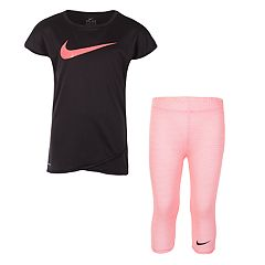 Girls 4-6x Nike Swoosh Graphic Tee & Capri Leggings Set