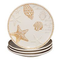 Certified International Coastal Discoveries 4-pc. Dinner Plate Set